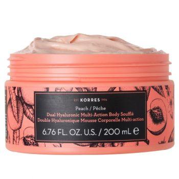 Korres Dual Hyaluronic Multi Actionbody Souffle Peach Βαθιά Ενυδάτωση Σώματος με Άρωμα Ροδάκινο, 200ml