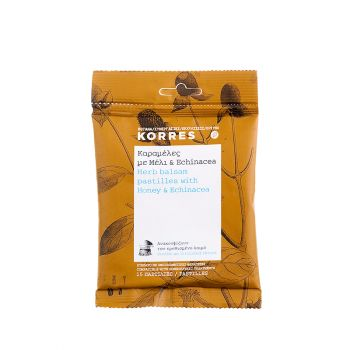 Korres Herb Balsam Pastilles Καραμέλες με Μέλι & Echinacea 15τμχ