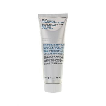 Korres Men's Shave Cream Κρέμα Ξυρίσματος με Εκχύλισμα από Αψέντι 125ml