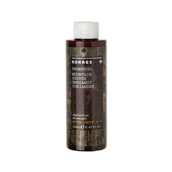 Korres Mountain Pepper-Bergamot-Coriander Ανδρικό Αφρόλουτρο 250ml