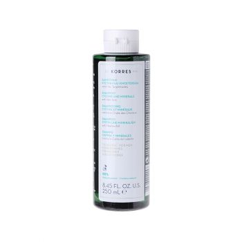 Korres Shampoo Against Hair Loss for Men Τονωτικό Σαμπουάν για Άνδρες κατά της Τριχόπτωσης με Κυστίνη & Ιχνοστοιχεία 250ml