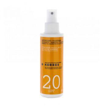Korres Sunscreen Face & Body Milk Yogurt Αντηλιακό Γαλάκτωμα Προσώπου & Σώματος SPF20 150ml