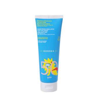 Korres Sunscreen Shea Butter For Children Παιδικό Αντιηλιακό Γαλάκτωμα Βούτυρο Karite SPF50 250ml