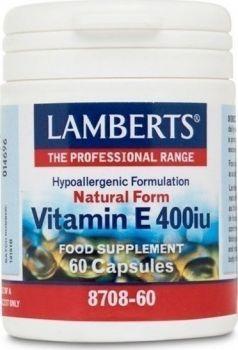Lamberts Vitamin E 400iu Natural Form 60 Caps