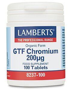 Lamberts Gtf Chromium 200Mcg 100Tabs