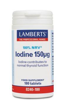 Lamberts Iodine 150mcg 180Tab