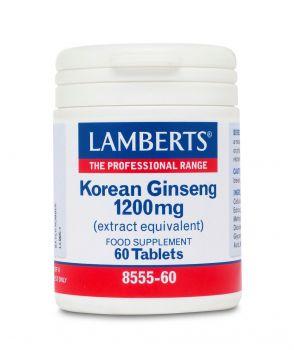 Lamberts Korean Ginseng 1200mg 60tabs