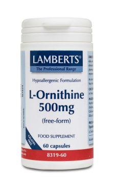 Lamberts L-Ornithine 500mg 60 cap