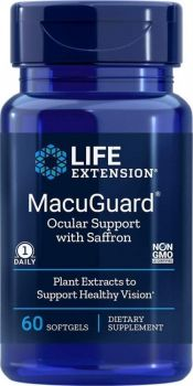 Life Extension MacuGuard Ocular Support With Safron 60softgels