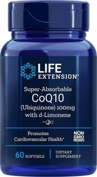Life Extension Super Absorable CoQ10 With D-Limonene 100mg 100softgels