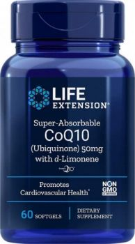 Life Extension Super Absorable CoQ10 With D-Limonene 50mg 60softgels