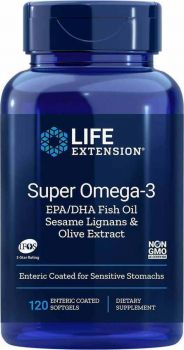 Life Extension Super Omega-3 EPA/DHA With Sesame Lignans And Olive Fruit Extract 120Softgels