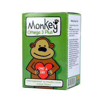Monkey-Ωμέγα-3-Για-Παιδιά-Monkey-Omega-3-Plus-30caps