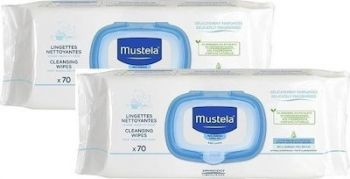 Mustela Promo Pack Dermo Soothing Wipes 2x70τμχ