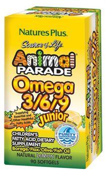 Nature's Plus Animal Parade Omega 3-6-9 Junior 90softgels