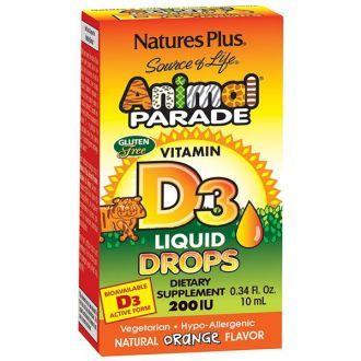 Nature's Plus Animal Parade Vit D3 200IU Drops 10ml
