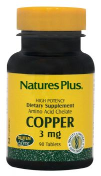 Nature's Plus Copper 3 mg 90 tabs