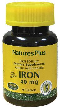 Nature's Plus Iron 40 mg 90 tabs