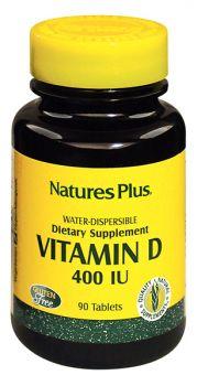 Nature's Plus Natural Vitamin D 400 IU Water-Dis 90 tbs