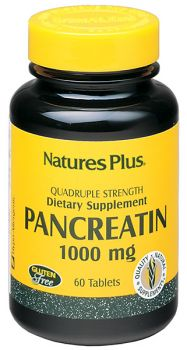 Nature's Plus Pancreatin 1000 mg 60 tabs