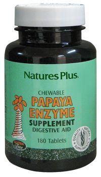 Nature's Plus Papaya Enzyme 180 Chew.caps