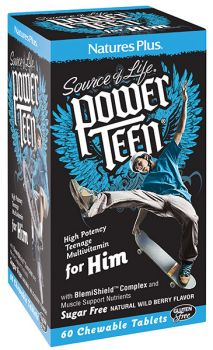 Nature's Plus Power Teen For Him 60 chewable