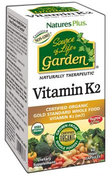 Nature's Plus Source Of Life Garden Vit K2 120mcg 60v.caps