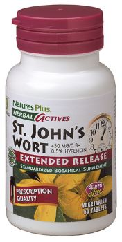 Nature's Plus St. John's Wort 450mg Extended Release 60tabs