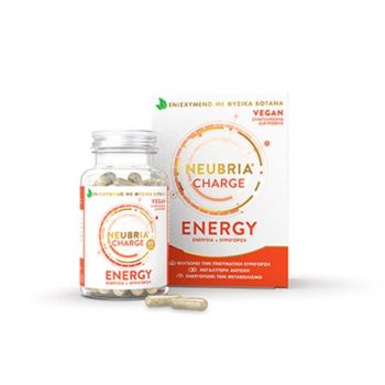 Neubria Charge Energy Συμπλήρωμα Διατροφής Για Ενέργεια και Εγρήγορση 60 Κάψουλες