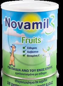 Novalac-Γάλα-Ειδικά-Σχεδιασμένο-Για-Παιδιά-1-3-Ετών-Novamil-3-Fruits-800-Gr