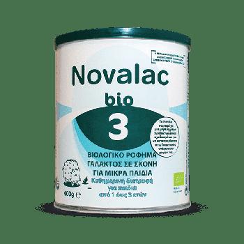 Novalac Bio 3 Βιολογικό Ρόφημα Γάλακτος σε Σκόνη για Μικρά Παιδιά 400γρ