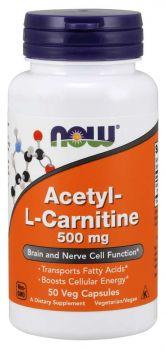 Now Foods Acetyl L-Carnitine 500mg 50veg.caps