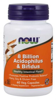 Now Foods Acidophilus Bifidus 8 Billion 60Vcaps