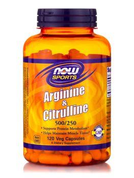 Now Foods Arginine 500 mg & Citruline 250 mg 120 caps