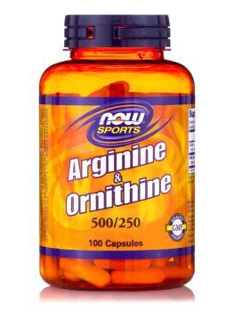 Now Foods Arginine 500 mg & Ornithine 250 mg 100 caps