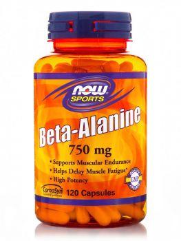 Now Foods Beta-Alanine 750mg 120caps