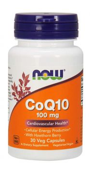 Now Foods CoQ10 100mg with Hawthorn Berry 30veg.caps