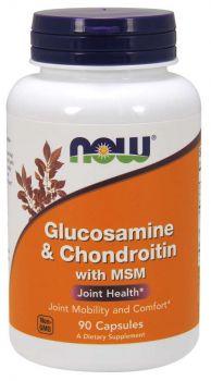 Now Foods Glucosamine & Chondroitin 1500mg/1200mg & MSM 300mg 90caps