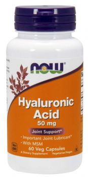 Now Foods Hyaluronic Acid 50mg & Msm 450mg 60veg.caps
