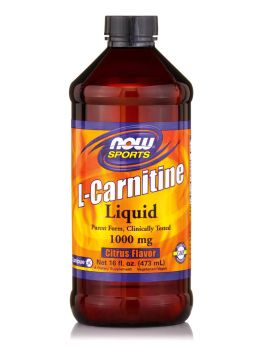 Now Foods L-Carnitine Liquid 1000mg Citrus 16oz