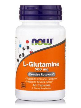 Now Foods L-Glutamine 500mg 120caps