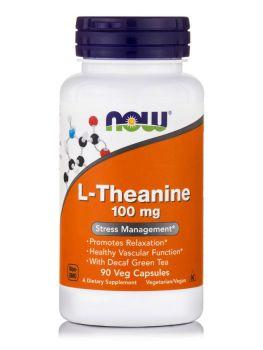 Now Foods L-Theanine 100mg (Suntheanine + Grean Tea) 90vcaps