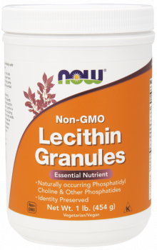 Now Foods Lecithin Granules (NON GMO) Vegetarian  1 lb (454 gr)
