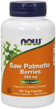 Now Foods Saw Palmetto 550mg 100caps