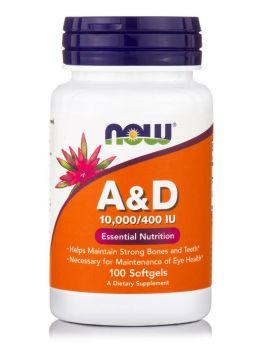 Now foods Vitamin A 10,000IU & D 400IU 100softgels