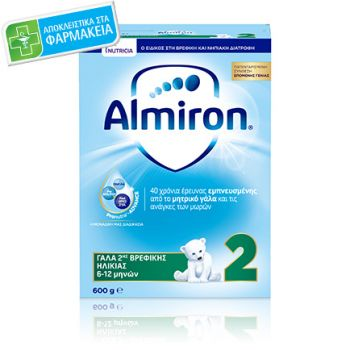 Nutricia Almiron 2 Γάλα 2ης Βρεφικής Ηλικίας Για Βρέφη Από 6-12 Μηνών 600gr