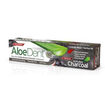 Optima Aloe Dent Triple Action Charcoal 100ml