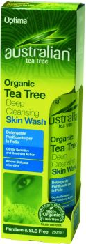Optima Australian Organic Tea Tree Deep Cleansing Skin Wash 250 ml