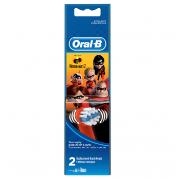 Oral B Ανταλλακτικά Kids Incredibles 2τμχ