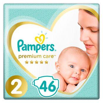 Pampers Premium Care Μέγεθος 2 (4-8 kg) 46 πάνες